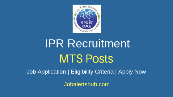 IPR Multi Tasking Staff Job Notification