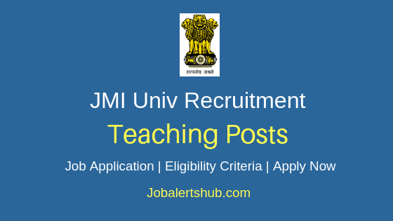JMI Teaching Job Notification