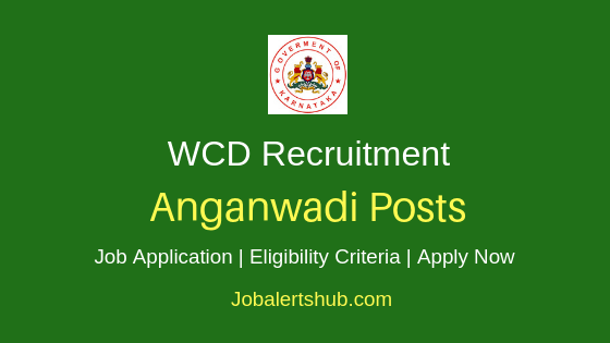 Karnataka Anganwadi Job notification