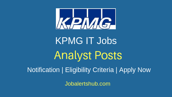 KPMG Analyst Job Notification