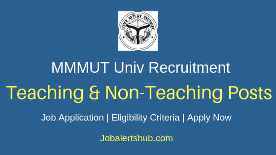 MMMUT Staff Job Notification