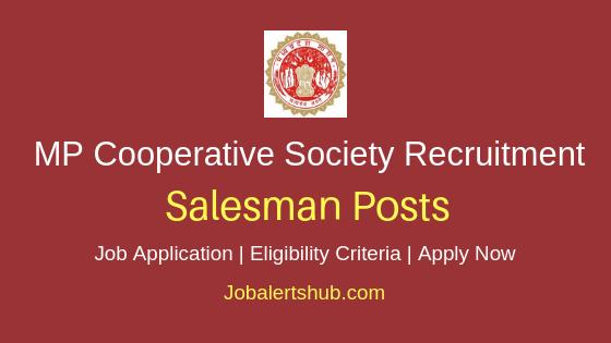 MP Cooperative Society Salesman Job Notification