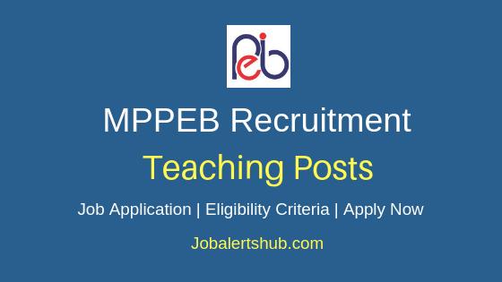 MPPEB Teaching Job Notification