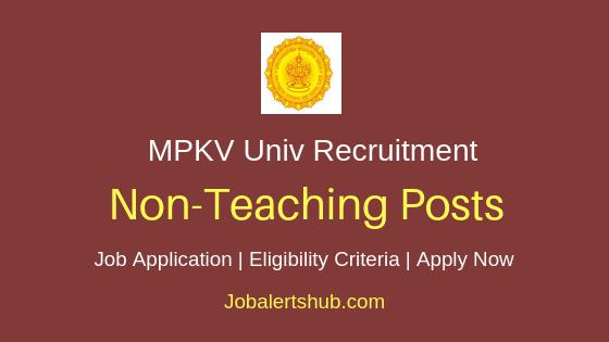 MPKV Non Teaching Job Notification