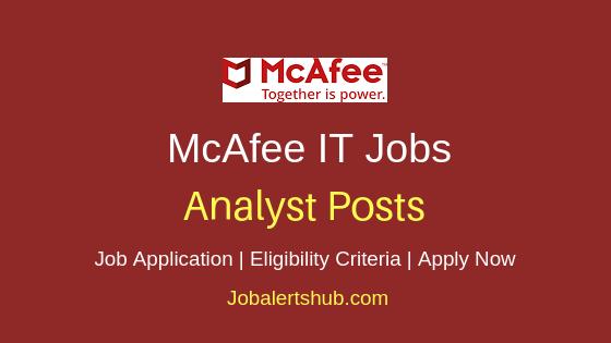 McAfee Analyst Job Notification