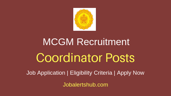 MCGM Coordinator Job Notification