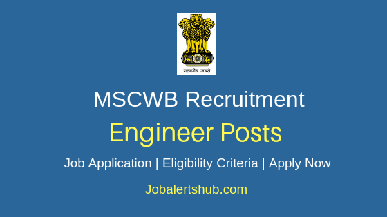 MSCWB Engineer Job Notification