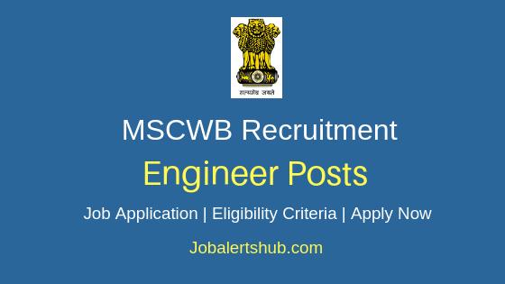 MSCWB Engineer Job Notification