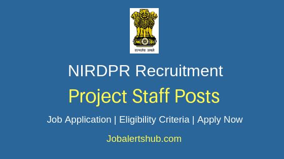NIRDPR Project Staff Job Notification