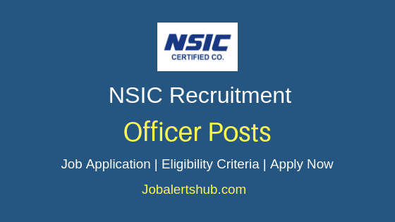 NSIC Officer Job Notifications