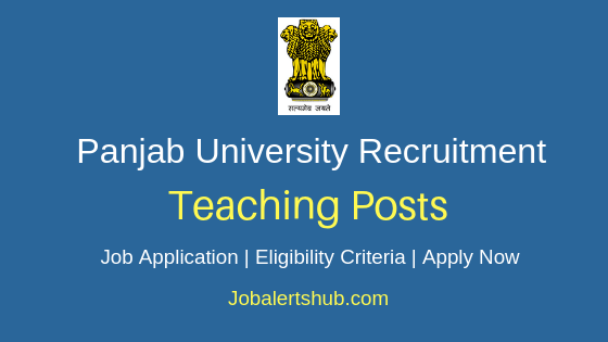 Panjab University Teaching Job Notification