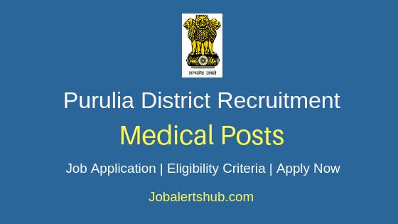 Purulia District Medical Job Notification