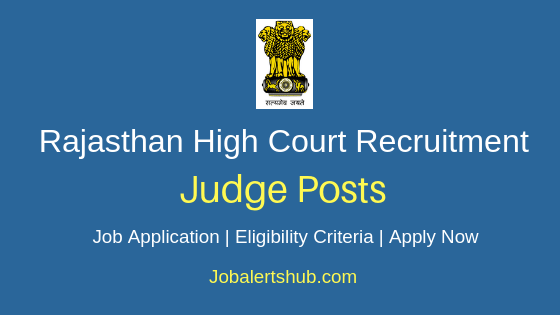 Rajasthan High Court Judge Job Notification