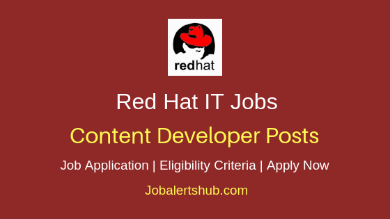 Red Hat Content Developer Job Notification