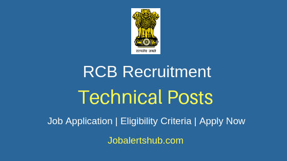 RCB Technical Job Notification