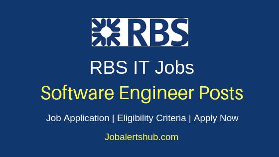 RBS Software Engineer Job Notification