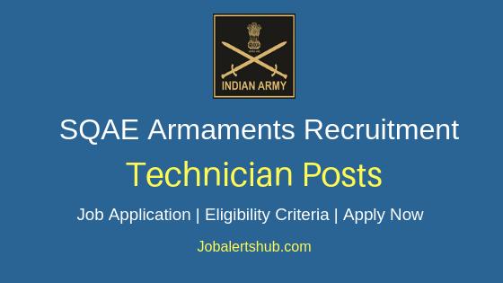 SQAE Armaments Technician Job Notification