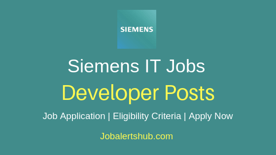 Siemens Ltd Developer Job Notification