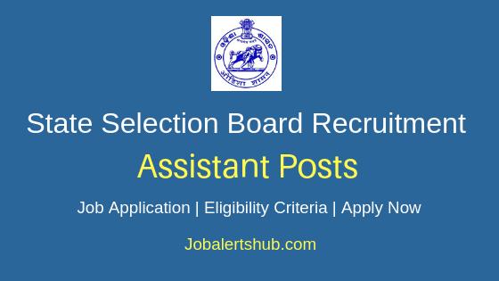 Odisha- SSB-Assistant-Job-Notification