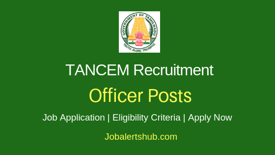 TANCEM Officer Job Notification
