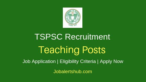 TSPSC Teaching Job Notification