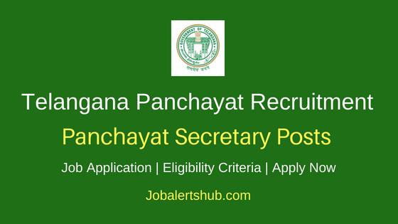 TSPRI Panchayat Secretary Job Notification