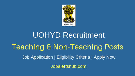 UOHYD Teaching And Non Teaching Job Notification