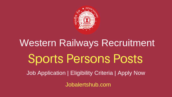 Western Railway Sportspersons Job Notification