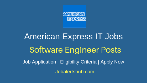 American Express Software Engineer Job Notification