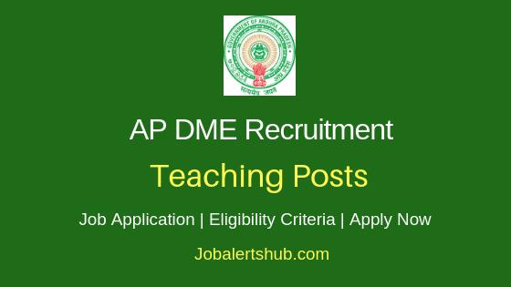 AP DME Teaching Job Notification