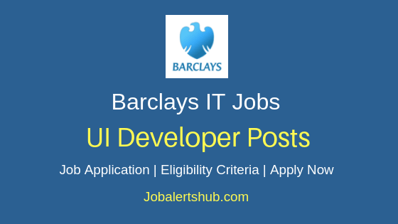 Barclays UI Developer Job Notification
