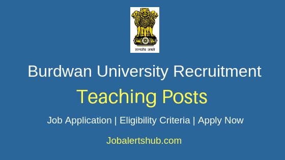 Burdwan University Teaching Job Notification