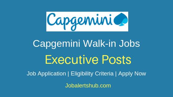 Capgemini Ltd Executive Walkin Job Notification