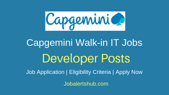 Capgemini Technology Services India Limited Developer Job Notification