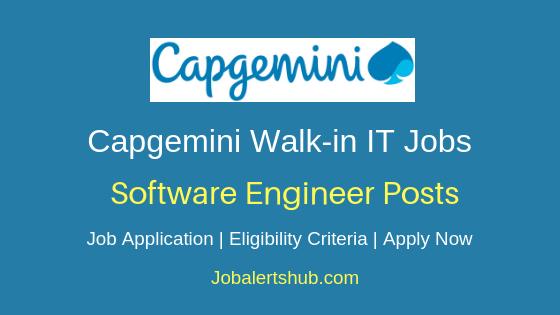 Capgemini Technology Services India Limited Walkin Software Engineer Job Notification