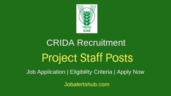 CRIDA Project Staff Job Notification