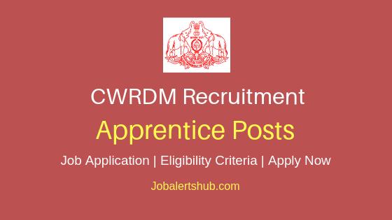 CWRDM Apprentice Job Notification