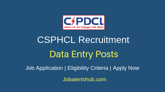 CSPHCL Data Entry Operator Job Notification