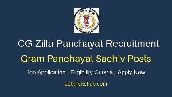 Chhattisgarh Zilla Panchayat Gram Panchayat Secretary Job Notification