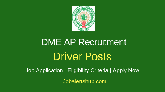 DME AP Driver Job Notification