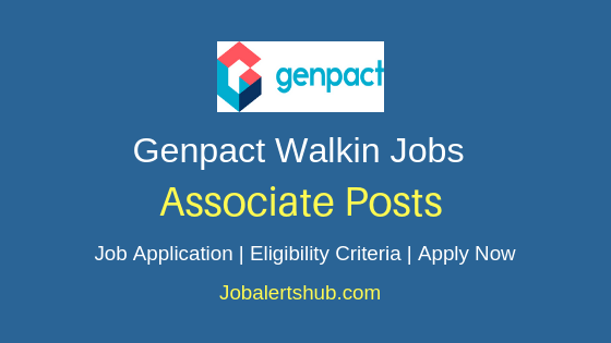 Genpact India Private Limited Walkin Associate Job Notification