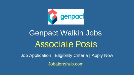 Genpact India Private Limited Walkin Associate Job Notification