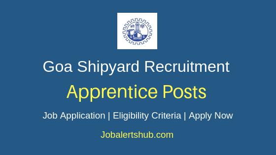 Goa Shipyard Limited Apprentice Job Notification