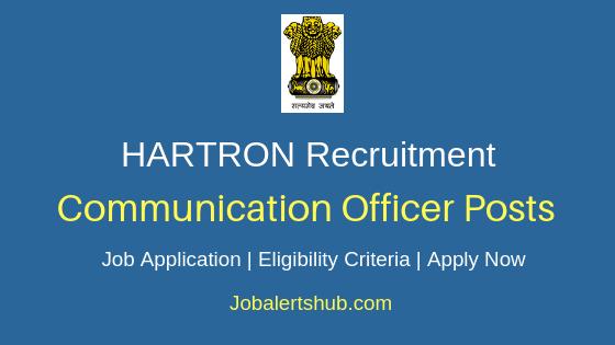 HARTRON Communication Officer Job Notification