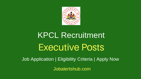 KPCL Executive Job Notification
