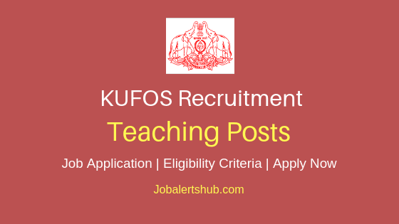 KUFOS Teaching Job Notification