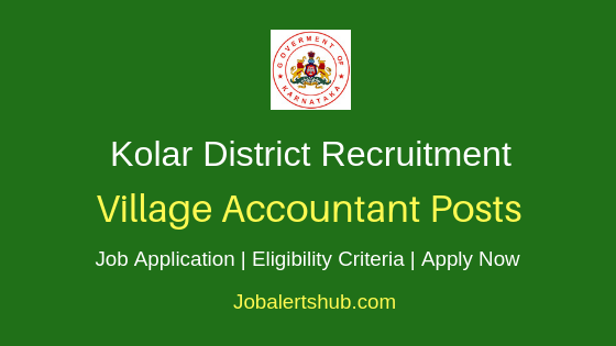 Kolar District Village Accountant Job Notification
