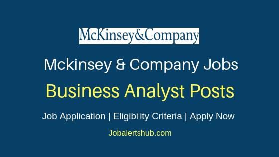 Mckinsey & Company India Business Analyst Job Notification