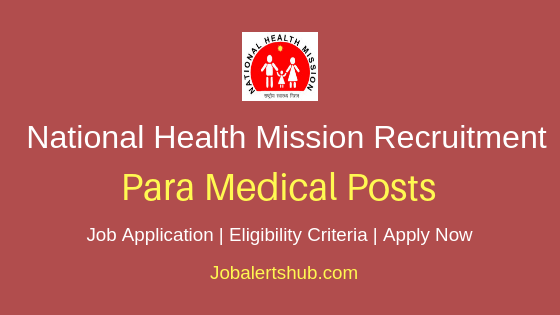 NHM Paramedical Staff Job Notification