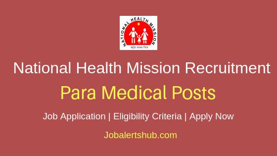 NHM Paramedical Staff Job Notification